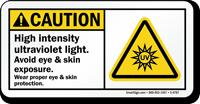 Avoid Eye Skin Exposure Caution Sign