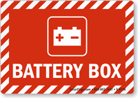 Battery Box Sign with Graphic