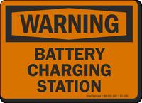 Battery Charging Station OSHA Warning Sign