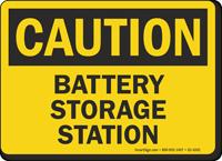 Battery Storage Station OSHA Caution Sign