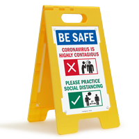 Be Safe Practice Social Distancing FloorBoss Sign