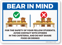 Bear in Mind: Do Not Share Food Sign