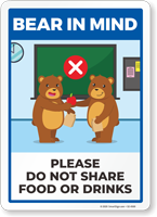 Bear In Mind: Do Not Share Food or Drinks