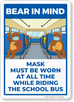Bear In Mind: Mask Must Be Worn All Times While Riding the School Bus