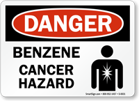Benzene Cancer Hazard Danger Sign