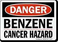 Danger Benzene Cancer Hazard Sign
