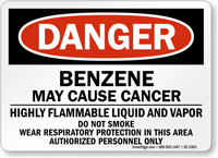 Benzene May Cause Cancer Danger Sign