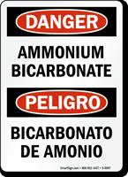 Bilingual Ammonium Bicarbonate Sign
