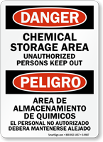 Bilingual Chemical Storage Area Sign