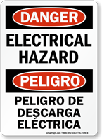 Electrical Hazard / Peligro De Descarga Electrica Sign