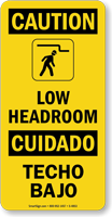 Low Headroom Bilingual Sign With Graphic