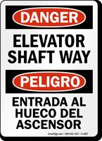 Bilingual Elevator Shaft Way Sign