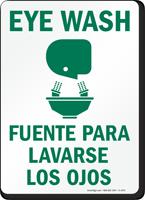 Bilingual Eyewash Fuente Para Lavarse Los Ojos Sign