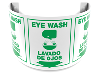 Bilingual 180 Degree Projecting Eye Wash Sign