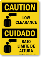 Low Clearance Cuidado Bajo Limite De Altura Sign