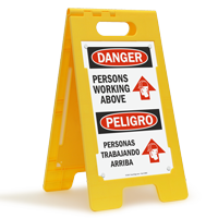 Persons Working Above, Personas Trabajando Arriba Standing Sign