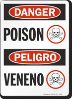 Danger Peligro Poison Sign