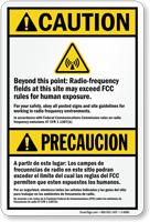 Bilingual Radio Frequency Fields Sign