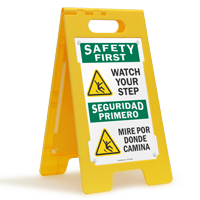 Safety First Watch Your Step Floor Sign