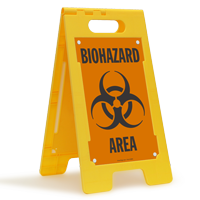 Biohazard Area Floor Standing Sign