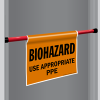 Biohazard Door Barricade Sign