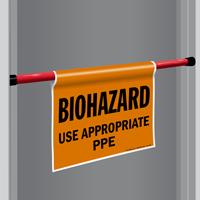 Biohazard Door Barricade Sign