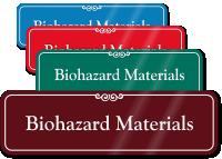 Biohazard Materials ShowCase Wall Sign