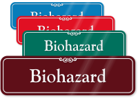 Biohazard Sign ShowCase Wall Sign