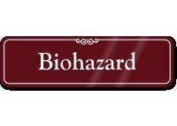 Biohazard Sign ShowCase Wall Sign