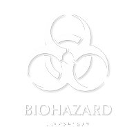 Biohazard Tactile Touch Tactile Touch Braille Sign