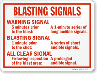 Warning Signal Safety Sign