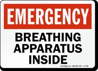 Emergency Breathing Apparatus Inside Sign