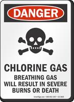 Chlorine Gas OSHA Danger Sign