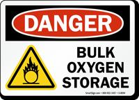 Bulk Oxygen Storage Danger Sign
