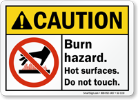Burn Hazard Do Not Touch Sign