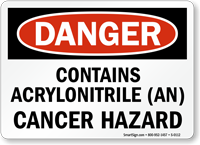 Danger: Contains Acrylonitrile (An) Cancer Hazard