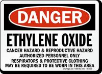 Danger Ethylene Oxide Cancer Hazard Sign
