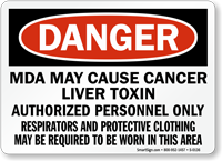 Respirators and Protective Clothing Required Sign