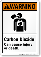 Carbon Dioxide Can Cause Injury Or Death Sign