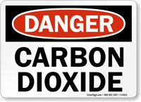 Danger Carbon Dioxide Sign