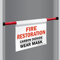 Carbon Dioxide Wear Mask Door Barricade Sign