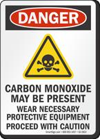 Carbon Monoxide May Be Present OSHA Danger Sign