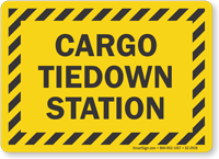 Cargo Tiedown Station Truck Signs