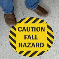 Caution Fall Hazard SlipSafe™ Floor Sign