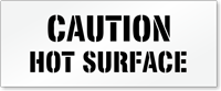 Caution, Hot Surface Floor Stencil