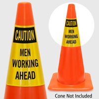 Caution Men Working Ahead Cone Collar