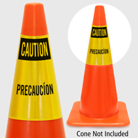 Caution Precaucion Cone Collar