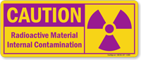 Caution: Radioactive Material Internal Contamination Sign