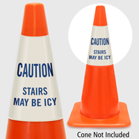 Caution Stairs May Be Icy Cone Collar