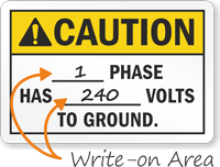 Caution Switchboard Identification Sign